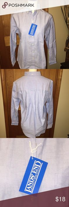 NWT LANDS END light blue button down oxford LANDS END - light blue button down oxford. NWT. Lands End Tops Button Down Shirts