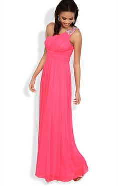 One Shoulder Long Prom Dress with Stone Strap and Ruched Bodice