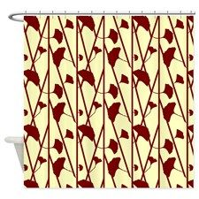 red and cream shower curtain. Owl Couple in Tree with Moon Shower Curtain  Trees and shower curtains