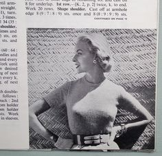 Vogue Knitting Patterns Vintage 1950s Vogue-Knit No. 125