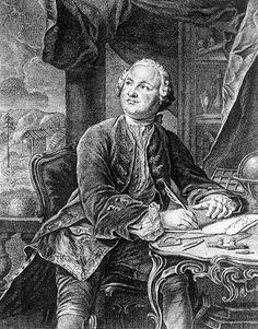 М.В.Ломоносов. Прижизненное изображение. Бумага, гравюра резцом. Э.Фессар и К.А.Вортман. 1757 г