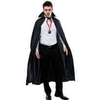 Let's Party With Balloons - Smiffy's Long Shiny Black Cape with Collar, $18.00 (http://www.letspartywithballoons.com.au/smiffys-long-shiny-black-cape-with-collar/)