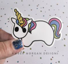 Rainbow Unicorn Sticker, Pony Laptop Sticker, Car Sticker, Skateboard Sticker, Vinyl Sticker, Horse Sticker, Rainbow Horse by AmberMorganDesigns on Etsy https://www.etsy.com/listing/262535887/rainbow-unicorn-sticker-pony-laptop