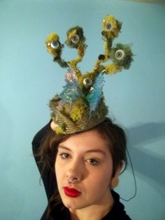 Into The Labyrinth Collection for The Hat and the LBD Etsy fashion show. by AMANDA G. JOYNER #HatAcademy #millinery