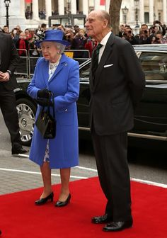 Queen Elizabeth II and Prince Philip, Duke of Edinburgh attend a reception at Canada House at Canada House on April 19, 2015 in London, England.