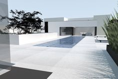 Pavillon Mayday by Glenn Sestig architects, open-poolhouse with outdoor relaxation area _