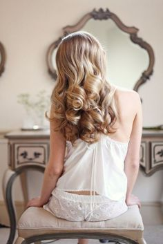 soft, retro curls. #hairstyle #beauty #zappos