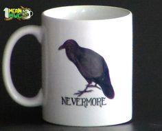 Raven Nevermore Coffee Mug- 11 oz Edgar Allan Poe Raven Coffee Mug Halloween Gift