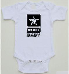 Cute Baby Onesie - U.S. Army Baby - Adorable baby onesie Sizes 0-18 months