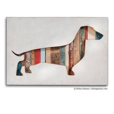 Dachshund Art, Dog Walk (Mini) Collection, Custom Silhouette Made to Order • Dolan Geiman