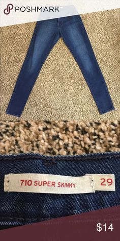 Levi's Supper Skinny 710's Super soft.  Comfortable but don't bag out after wearing them.  Like New Levi's Jeans Skinny