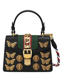 Fierce Dragon Embroidered Canvas Tote with Vegan Leather Accents