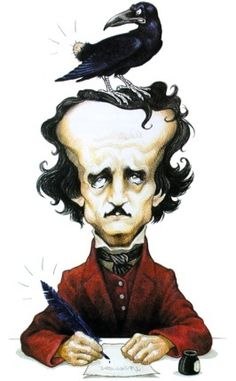 Caricature of Poe created in 1999 by Italian artist Marco Martellini.