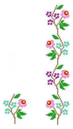 FL202 Cross Stitch Tree, Simple Cross Stitch, Cross Stitch Borders, Cross Stitch Baby, Modern Cross Stitch, Cross Stitch Flowers, Hand Embroidery Videos, Hand Embroidery Patterns, Funny Cross Stitch Patterns