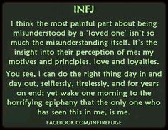 infj misunderstood - it sounds a little self absorbed, because it is. Infj Mbti, Intj And Infj, Enfj, Infj Traits, Infj Personality, Personality Characteristics, Personality Psychology, Personality Profile, Picture Quotes