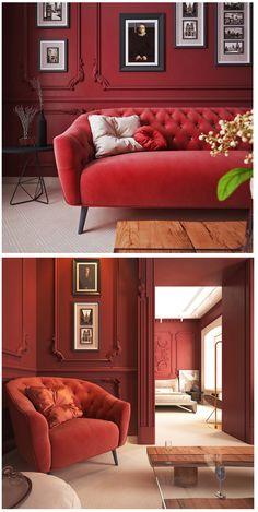 48 Ideas For Living Room Classic Interior Wall Colors Sofa Living, Living Room Red, Living Room Colors, Interior Design Living Room, Living Room Designs, Living Room Furniture, Living Room Decor, Design Room, Living Room Wallpaper Red