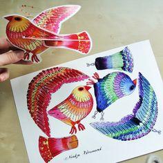 Hattifants Craft Review: Paper Birds by Nadja Petremand from Dans Mon Bocal » Hattifant