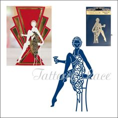 Tattered Lace Dies Cabaret Girl Rosie Metal Cutting Die for sale online Die Cutting, Paper Cutting, Aliexpress Dies, Art Deco Cards, Tattered Lace Cards, Shaped Cards, Easel Cards, Die Cut Cards, Art Deco Design