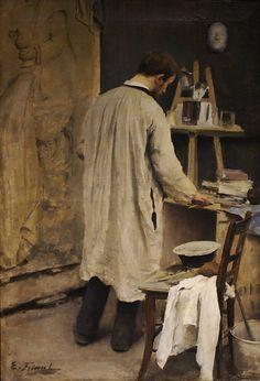 Πορτρέτο του γλύπτη Ernest Bussiere - Εσωτερικό σε στούντιο (1884) Μουσείο Καλών Τεχνών στη Νανσύ της Γαλλίας