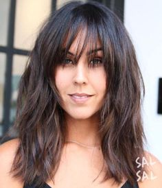 * 60 Super Chic Hairstyles for Long Faces to Break Up the Length Awesome Awesome Medium Brunette Sh. Medium Hair Cuts, Medium Hair Styles, Short Hair Styles, Long Face Hairstyles, Chic Hairstyles, Long Shag Haircut, Long Face Shapes, Curls, Hair