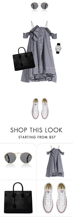 """""""Sporty Chic: Sneakers and Dresses"""" by anyasdesigns ❤ liked on Polyvore featuring Prada, MSGM, Yves Saint Laurent, Converse and Rosendahl"""