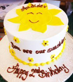 A sunshine birthday cake! Cake # 102.