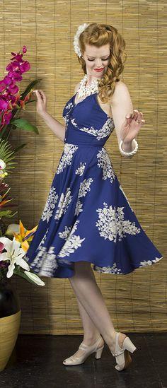 Trashy Diva L'Amour Dress | 1950's Inspired Dress | Blue Hawaii