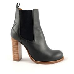 Pre-Owned Chloe Gray Leather Chelsea Ankle Boots (920.225 COP) ❤ liked on Polyvore featuring shoes, boots, ankle booties, beatle boots, high heel booties, leather high heel boots, grey booties and gray leather boots