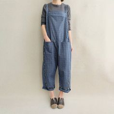 Women Leisure Cotton Jumpsuits Comfortable Pants Printed Overalls Wide... ($65) ❤ liked on Polyvore featuring jumpsuits, blue, jumpsuits & rompers, women's clothing, blue overalls, romper jumpsuit, wide leg jumpsuits, bib overalls and blue wide leg jumpsuit