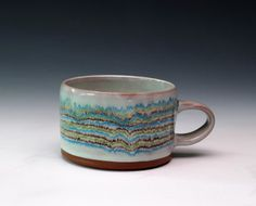 mint cup with stripes- Courtney Murphy.