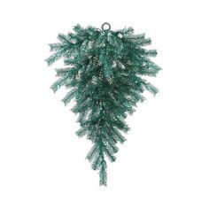 3ft. Pre-Lit Pre-Lit Christmas Swag Tinsel Teardrop ($42) ❤ liked on Polyvore featuring home, home decor, holiday decorations, blue, teardrop christmas ornaments, christmas ornaments, teardrop ornaments, christmas holiday decorations and xmas ornaments