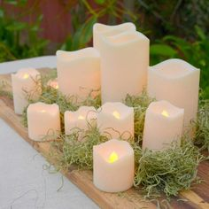 Grouped battery candles for a touch of light