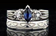 I am not pinning engagment rings... I am not pinning engagement rings.  (I just really like the Celtic design and the sapphire)