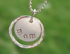 Double Circle Mom Necklace