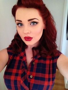 Fresh Rockabilly Look:: Pin Up Girl Make up:: Rockabilly Inspired Makeup:: Retro Style
