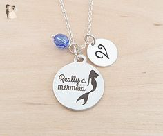 Really A Mermaid Personalized Sterling Silver Necklace - Wedding nacklaces (*Amazon Partner-Link)
