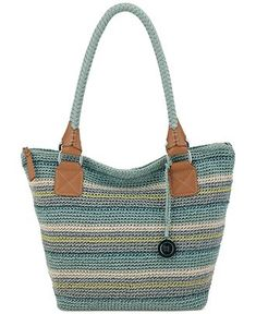 The Sak Cambria Large Crochet Tote - Handtassen en accessoires - Macy & # s Crochet Shell Stitch, Crochet Tote, Crochet Handbags, Crochet Purses, Hand Crochet, Crochet Accessories, Handbag Accessories, Craft Bags, Knitted Bags