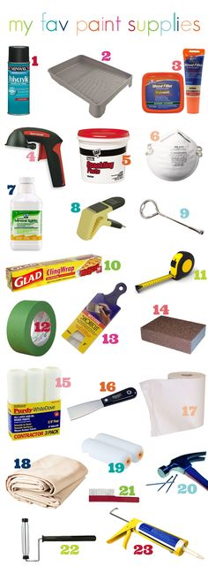 must-haves for painting projects from iHeart Organizing