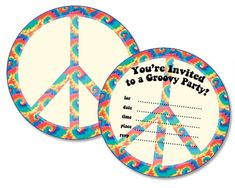 Free Printable Peace Sign Birthday Invitations