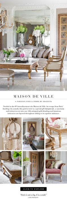 Maison de Ville: a Parisian pied-a-terre by Ebanista. Nestled in the 6th Arrondissement sits...