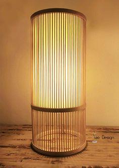 "a Japanese/Zen style hand made wood lamp-""return back to nature"" Zen Style, Wood Lamps, Crafts To Make, Indigo, Bamboo, Creative Crafts, Handmade Crafts, Creativity, Indigo Dye"