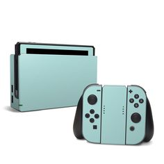 DecalGirl Nintendo Switch skins feature vibrant full-color artwork that helps protect the Nintendo Switch from minor scratches and abuse without adding any bulk or interfering with the device's operation. This skin features the artwork Solid State Mint by Solid Colors - just one of hundreds of designs by dozens of talented artists from around the world.