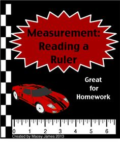 $2.00 Reading a ruler is an important part of every measurement unit.These worksheets require students to read and measure a standard ruler. Each rulers is accurate and divided into sixteenths. They are great for homework or centers.  No ruler is needed. Contains 2 pages of high level practice. Each page has 8 problems. Some problems will need to be simplified. Answer key included.