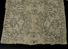 Antique lace at Vintage Textile Honiton lace panel