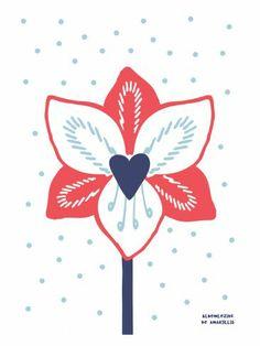Bloemlezing Amaryllis- illustration Studio Sjoesjoe - mooiwatbloemendoen.nl Love Illustration, Hello Autumn, Love Flowers, Love Art, Floral Prints, Fall, Inspiration, Studio, Typo