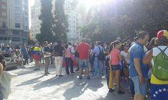 Marcha de venezolanos en Madrid para solicitar el revocatorio 4 septiembre 2016
