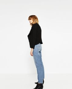 Image 2 of FRAYED BLAZER from Zara High Street Fashion, Street Style, Spring Summer 2016, Mom Jeans, Normcore, My Style, Pants, Jackets, Woman