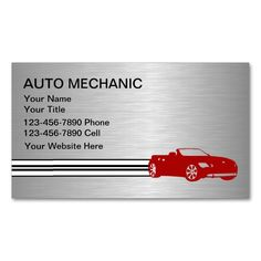Automotive business cards this great business card design is automotive business cards this great business card design is available for customization all text style colors sizes can be modified to fit you reheart Image collections