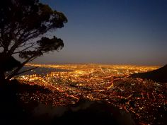 Cape Town. After sunset. View from Lion's Head.