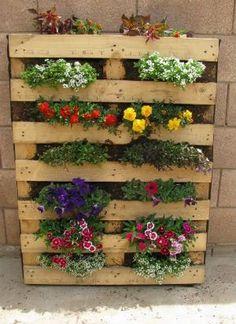 Blomster Palletbed,